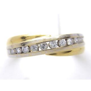 お値引き不可 K18 合計0.34ct 天然 ダイヤ リング(リング(指輪))