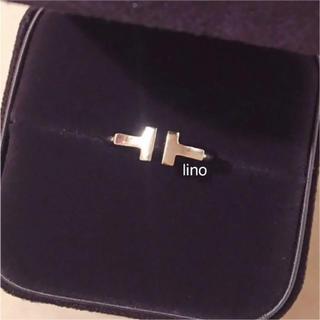ティファニー(Tiffany & Co.)のティファニー Tiffany Tワイヤー リング 指輪 K18WG ゴールド(リング(指輪))