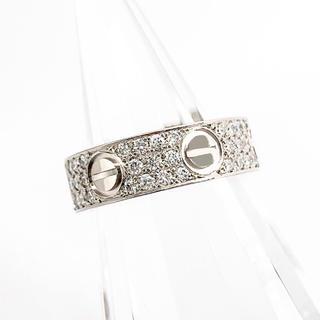 カルティエ(Cartier)の【仕上済】カルティエ ラブリング WG ダイヤ 8号 レディース リング 指輪(リング(指輪))