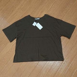 シマムラ(しまむら)の【新品未使用】Tシャツ 焦げ茶 ダークブラウン(Tシャツ(半袖/袖なし))