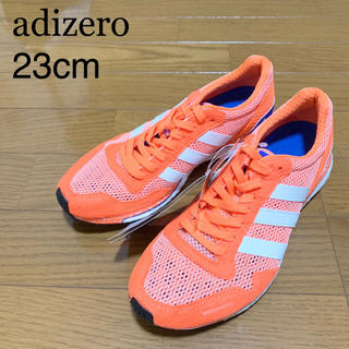 アディダス(adidas)の★新品★adidas アディゼロ ジャパン 23cm オレンジ ランニング(スニーカー)