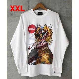 XXL 白 SAPEur ドロンジョ ロンTシャツ サプール(Tシャツ/カットソー(七分/長袖))