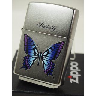 ジッポー(ZIPPO)のZippo バタフライ・蝶(カラー)チョウ 紫(タバコグッズ)