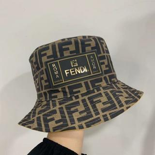 フェンディ(FENDI)のFENDI ブランドロゴ モノグラム リバーシブル 折りたたみ ハット(ハット)