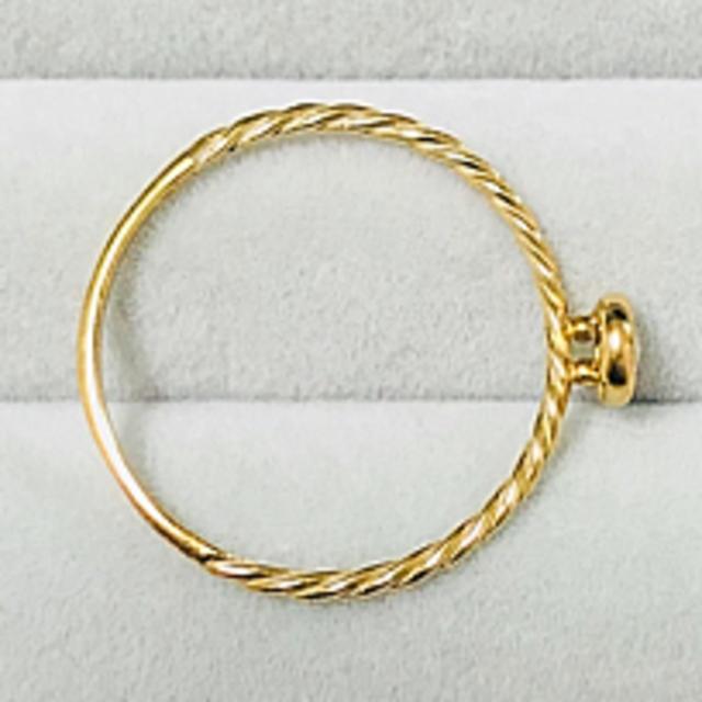 K18 YG ダイヤ マカロンリング レディースのアクセサリー(リング(指輪))の商品写真