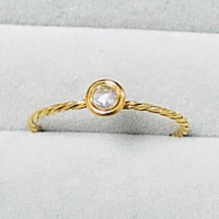 K18 YG ダイヤ マカロンリング(リング(指輪))