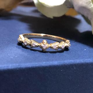 アーカー(AHKAH)のAHKAH K18 ダイヤモンド ミラリング(リング(指輪))
