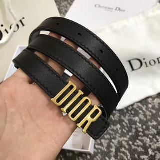 Dior - Dior★D-Fence ロゴバックル カーフスキンベルト