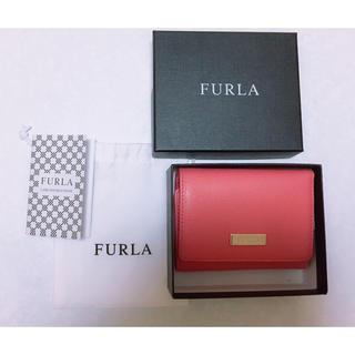 フルラ(Furla)のフルラ  ピンク 折りたたみミニ財布 定価約21000円(折り財布)