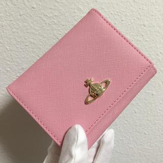 ヴィヴィアンウエストウッド(Vivienne Westwood)のピンク三つ折りがま口❤️ヴィヴィアンウエストウッド❤️新品・未使用(財布)