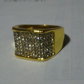 ゴールド重厚ダイヤモンドリング 19号(リング(指輪))