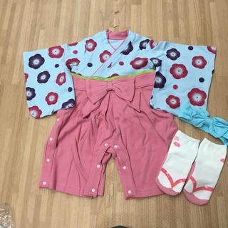 ベルメゾン(ベルメゾン)の袴ロンパース 3点セット(和服/着物)