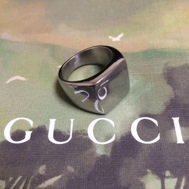 クラシックスクエアリング シルバー メンズのアクセサリー(リング(指輪))の商品写真