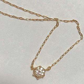4℃ - ヨンドシー 4℃  k18 ダイヤモンドネックレス 0.155ct