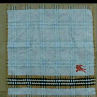 未使用バーバリーウォッシュタオル綿100%西川産業日本製