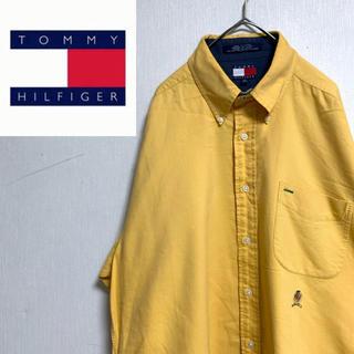 トミーヒルフィガー(TOMMY HILFIGER)の90s トミーヒルフィガー 古着 BDシャツ ボタンダウンシャツ ロゴ(シャツ)
