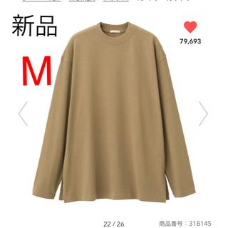 ジーユー(GU)の新品 gu  ロングスリーブtシャツ  M ロングスリーブt(Tシャツ(長袖/七分))