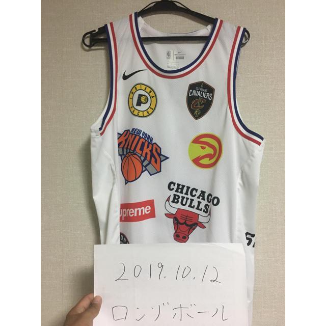 Supreme(シュプリーム)のNIKE SUPREME NBA ユニフォーム WHITE Lサイズ メンズのトップス(タンクトップ)の商品写真