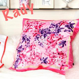 レディー(Rady)の新品未使用Rady❤️エレガンスフラワークッション ピンク カバーのみ(クッションカバー)
