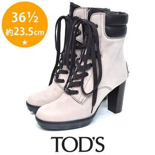 トッズ(TOD'S)の美品❤️トッズ ロゴ レースアップ ショートブーツ 36 1/2(約23.5(ブーツ)