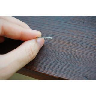 美品☆保証カード付 アクアマリンのピンキーリング 4.5号 K10WG(リング(指輪))