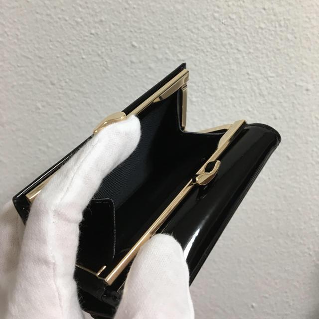 Vivienne Westwood(ヴィヴィアンウエストウッド)のエナメル黒がま口財布❤️ヴィヴィアンウエストウッド❤️新品・未使用 レディースのファッション小物(財布)の商品写真