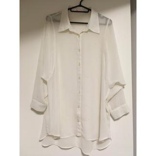 シマムラ(しまむら)のシャツ ブラウス白(シャツ/ブラウス(長袖/七分))