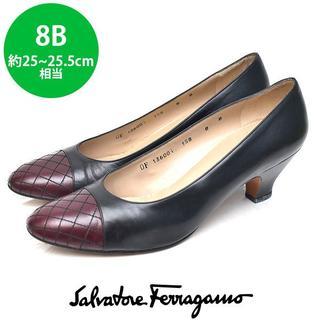 Salvatore Ferragamo - サルヴァトーレフェラガモ トゥ切り替え パンプス 8B(約25-25.5cm)