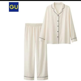 ジーユー(GU)の新品 未使用 サテン パジャマ ルームウェア(パジャマ)
