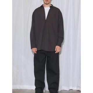 COMOLI - COMOLI 19SS コモリ シャツ/ブラック サイズ 2