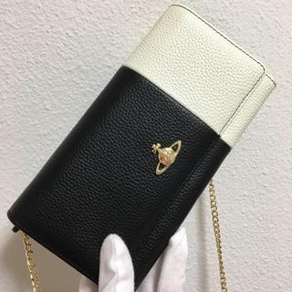 Vivienne Westwood - 黒×白お財布ショルダー❤️ヴィヴィアンウエストウッド❤️新品・未使用