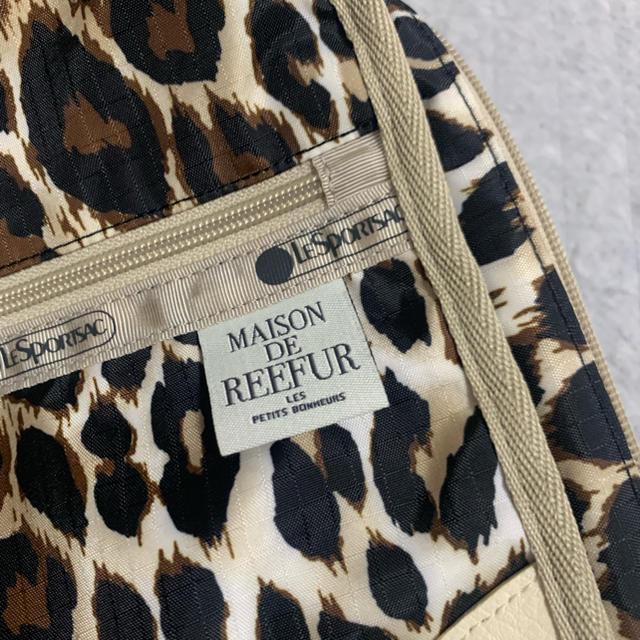 Maison de Reefur(メゾンドリーファー)のメゾンドリーファ×レスポ トラベルパッキングポーチ USED 美品 レオパード柄 レディースのファッション小物(ポーチ)の商品写真