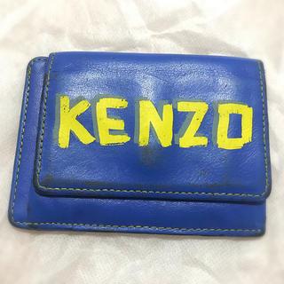 ケンゾー(KENZO)のKENZO パスケース 財布 ブルー(名刺入れ/定期入れ)