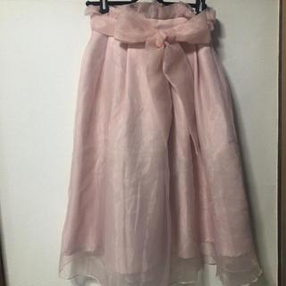 ナイスクラップ(NICE CLAUP)のフレア オーガンジースカート(ひざ丈スカート)