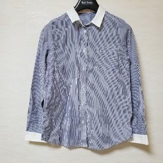 エージーバイアクアガール(AG by aquagirl)のストライプシャツ ネイビー (シャツ/ブラウス(長袖/七分))