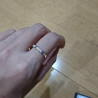 ヨンドシー(4℃)の【大幅値下げ】4℃ダイヤ&サファイヤエタニティリング(リング(指輪))