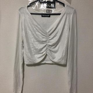 スタイルナンダ(STYLENANDA)のブラックアップ blackup クロップドシャーリングロンT(Tシャツ(長袖/七分))