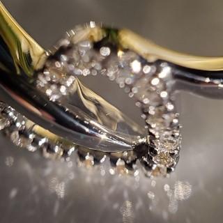 ヴァンドームアオヤマ(Vendome Aoyama)のK18WG 天然ダイヤモンド デザインリング #8 (リング(指輪))