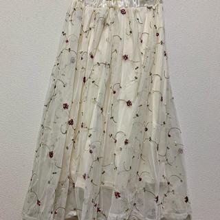 シマムラ(しまむら)の花柄刺繍チュールスカート(ロングスカート)