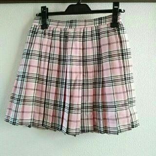 cecile - チェックスカート ピンク Mサイズ ウエスト64㎝