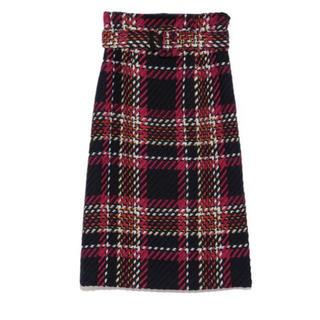 ミラオーウェン(Mila Owen)の完売 ミラオーウェン  チェック タイトスカート(ひざ丈スカート)