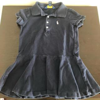 ラルフローレン(Ralph Lauren)のラルフローレン ポロシャツワンピース紺 2T(ワンピース)