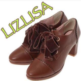 リズリサ(LIZ LISA)の115 レースアップ ブーティー LIZ LISA リズリサ ブラウン 茶 新品(ブーティ)