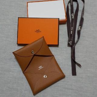 エルメス(Hermes)の【美品】HERMES カードケース ブラウン(名刺入れ/定期入れ)