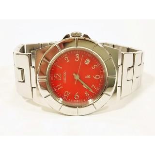 セイコー(SEIKO)の鏡面仕上げ セイコー ルキア 赤 電池新品 ベルト洗浄済 完動品(腕時計)