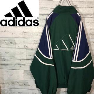 adidas - 【激レア】アディダスadidas☆ビッグロゴポリジャケット90s M0591