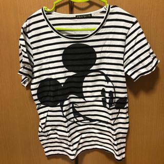 フラボア(FRAPBOIS)のフラボア Tシャツ ミッキー サイズ表記1 ディズニー ボーダー(Tシャツ(半袖/袖なし))