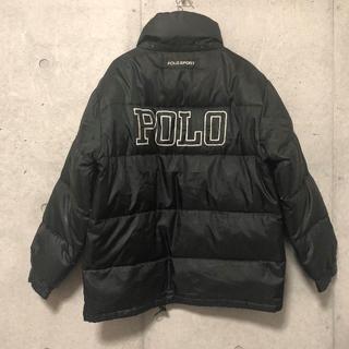 ポロラルフローレン(POLO RALPH LAUREN)の90s POLO SPORTS ビッグ ロゴ ダウン ジャケット M ブラック(ダウンジャケット)