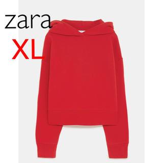 ザラ(ZARA)の新品 ザラ XL クロップド フーディー スウェットパーカー(パーカー)