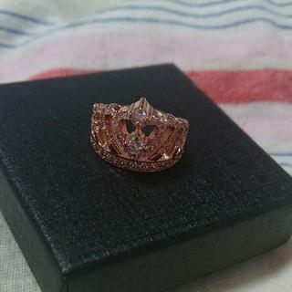 可愛らしいティアラデザイン!!ピンクゴールド&ダイヤモンドリング【3.0ct】(リング(指輪))